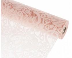 Упак.материал ламинированный фетр 3D Mini Heart 50см*10м розовый