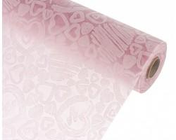 Упак.материал ламинированный фетр 3D Mini Heart 50см*10м светло-розовый
