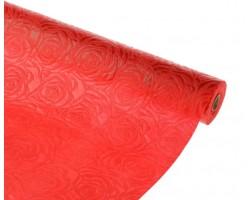 Упак.материал ламинированный фетр 3D Rose 50см*10м красный