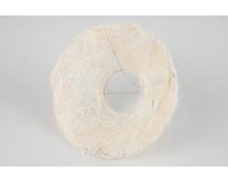 Каркас для букета (сизаль) гладкий 25см белый