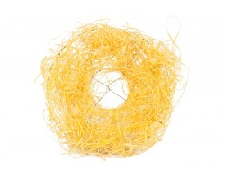 Каркас для букета из ротанга 25см желтый