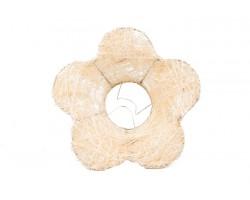 Каркас для букета Цветок (сизаль) 25см кремовый