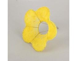 Каркас для букета Цветок (сизаль) 25см желтый
