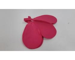 Каркас для букета Цветок (войлок) 30см розовый