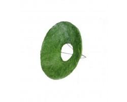 Каркас для букета (сизаль) гладкий 25см зеленый