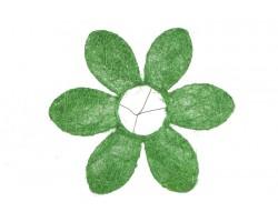 Каркас для букета Ромашка (сизаль) 25см зеленый