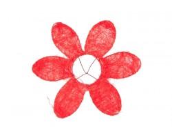 Каркас для букета Ромашка (сизаль) 25см красный