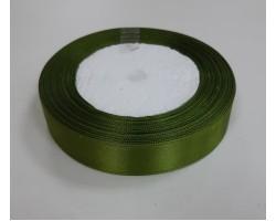 Лента декоративная 19мм*22м атлас одностор.темно-зеленый 4606500658992
