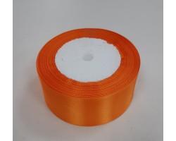 Лента декоративная 38мм*22м атлас односторонний оранжевый 4606500534081