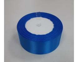 Лента декоративная 38мм*22м атлас односторонний синий 4606500534135