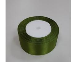 Лента декоративная 38мм*22м атлас односторонний темно-зеленый 4606500659159