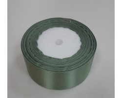 Лента декоративная 38мм*22м атлас односторонний зелено-серый 55000010867858