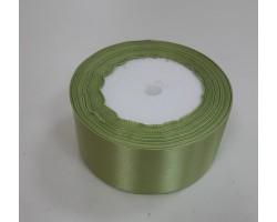 Лента декоративная 38мм*22м атлас односторонний нежно-зеленый 5500010867867