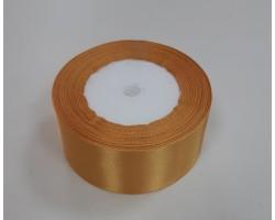 Лента декоративная 38мм*22м атлас односторонний светло-коричневый 4606500659111