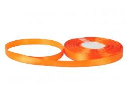 Лента атласная 10мм*30м оранжевая