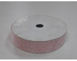Лента декоративная 25мм*23м атлас светло-розовый