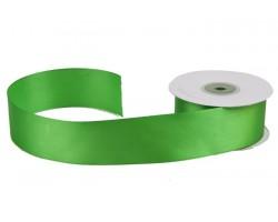 Лента атласная 38мм*25м зеленая