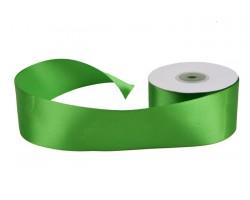 Лента атласная 50мм*25м зеленая