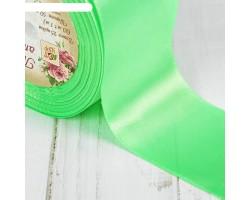 Лента атласная 50мм*25ярд №52 ярко-зеленый арт.1218414