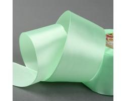 Лента атласная 50мм*25ярд №80 бледно-зеленый арт.1218416