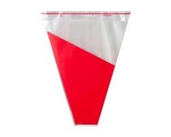 Пакет для букета 50*35*10см (упак.50шт) красный