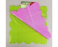Салфетка CartaPack G2 Полоска (упак.50шт) салатовый+малиновый