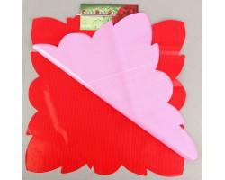 Салфетка CartaPack G2 Полоска (упак.50шт) красный+розовый