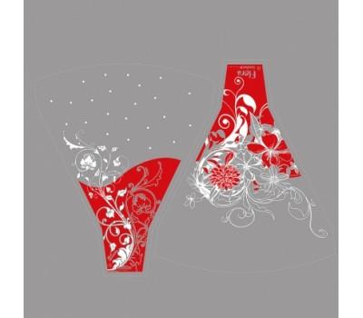 Рюмка Flora/Blum 44*50см (упак.100шт) красный/белый