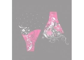 Рюмка Flora/Blum 44*50см (упак.100шт) розовый/белый