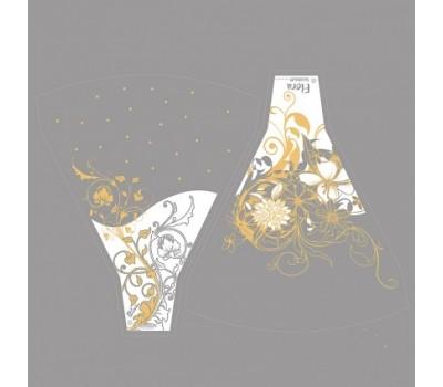 Рюмка Flora/Blum 44*50см (упак.100шт) золото/белый