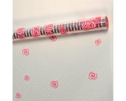 Пленка Belle Rose 70см белый+красный