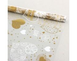 Пленка Adore 70см белый+золото