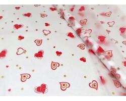 Пленка CartaPack Валентинки 70см красный+золото