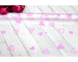 Пленка CartaPack Валентинки 70см розовый+сиреневый