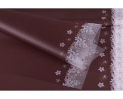 Набор матовой пленки 60*60см с цветочным орнаментом на кайме 50 мкм (20лист) шоколадный арт.61132