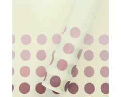Пленка Bobs 60см*10м (Корея) кремовый+бордовый