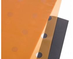 Набор прозрачной матовой пленки Горох 60*60см (20лист) оранжевый