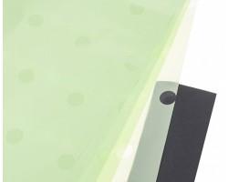 Набор прозрачной матовой пленки Горох 60*60см (20лист) салатовый