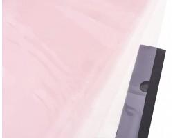 Набор прозрачной матовой пленки Горох 60*60см (20лист) светло-розовый