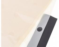 Набор прозрачной матовой пленки Горох 60*60см (20лист) кремовый