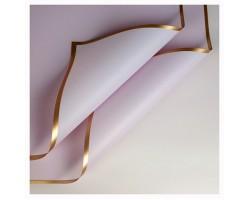 Набор пленки с золотой каймой 58*58см (20лист) светло-сиреневый