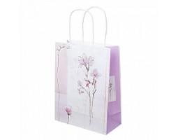 Пакет подарочный Цветы (крафт) 18*H23см арт.C-2335-1
