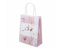 Пакет подарочный Цветы (крафт) 18*H23см арт.C-2335-3