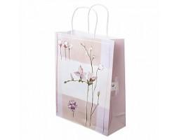 Пакет подарочный Цветы (крафт) 26*H32см арт.B-2335-3