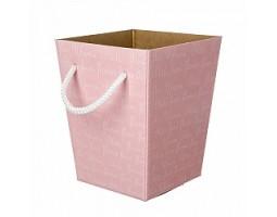 Коробка для букета 12,5*18*22,5см розовый