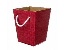 Коробка для букета 12,5*18*22,5см красный
