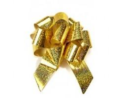 Бант шар 325/75 32мм голография золото шт.