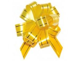 Бант шар 183/01-30 18мм с золотой полосой желтый шт.