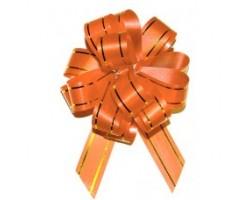 Бант шар 183/01-35 18мм с золотой полосой оранжевый шт.