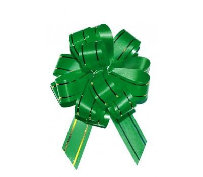 Бант шар 183/01-45 18мм с золотой полосой зеленый шт.